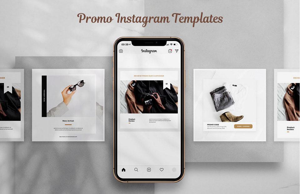 Promo Instagram Templates шаблон psd скачать бесплатно