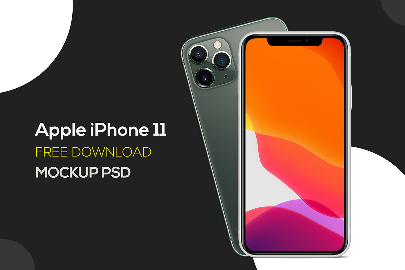 iPhone 11 Free Mockup | PSD