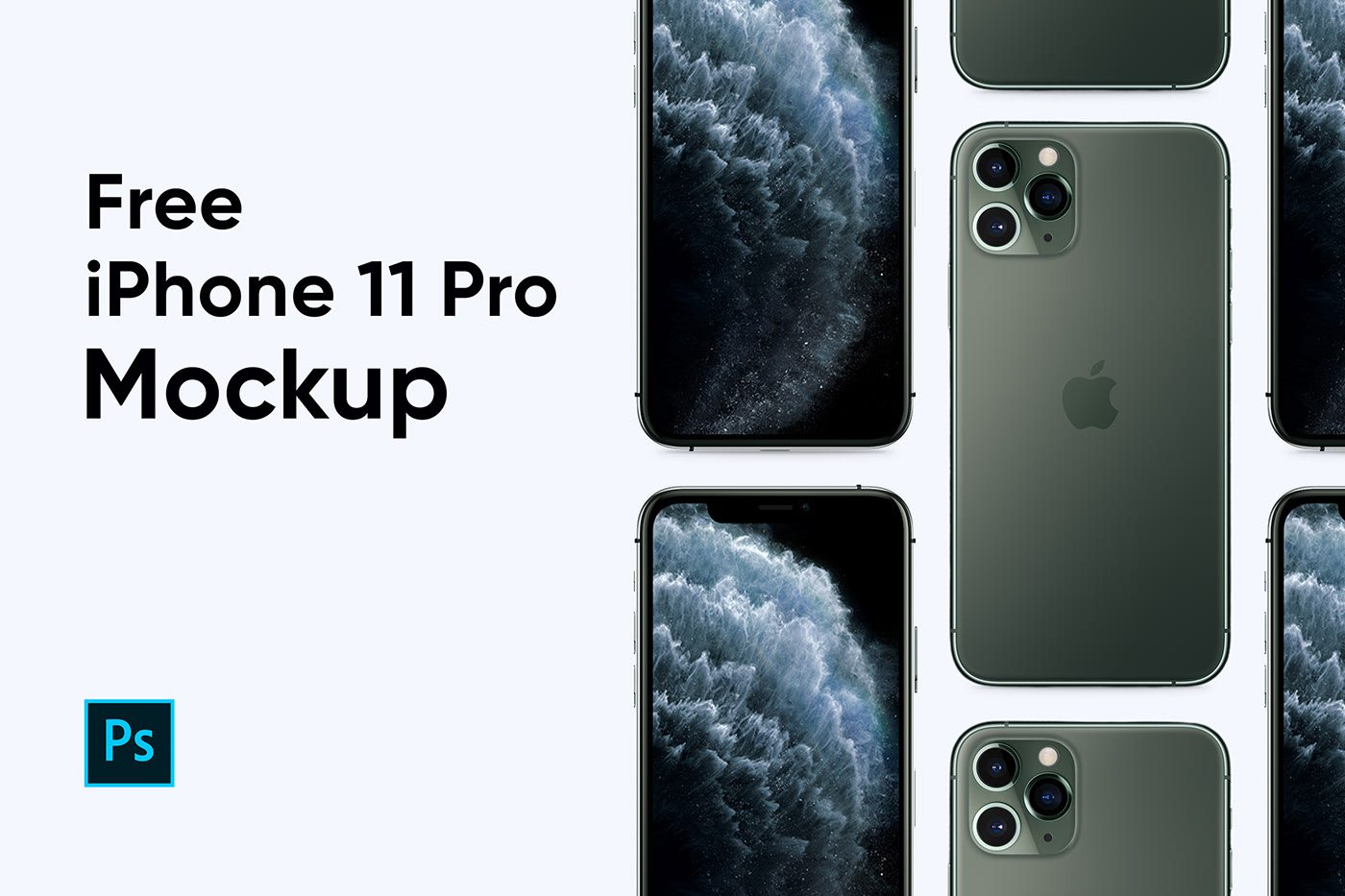 Free Apple iPhone 11 Pro Mockup