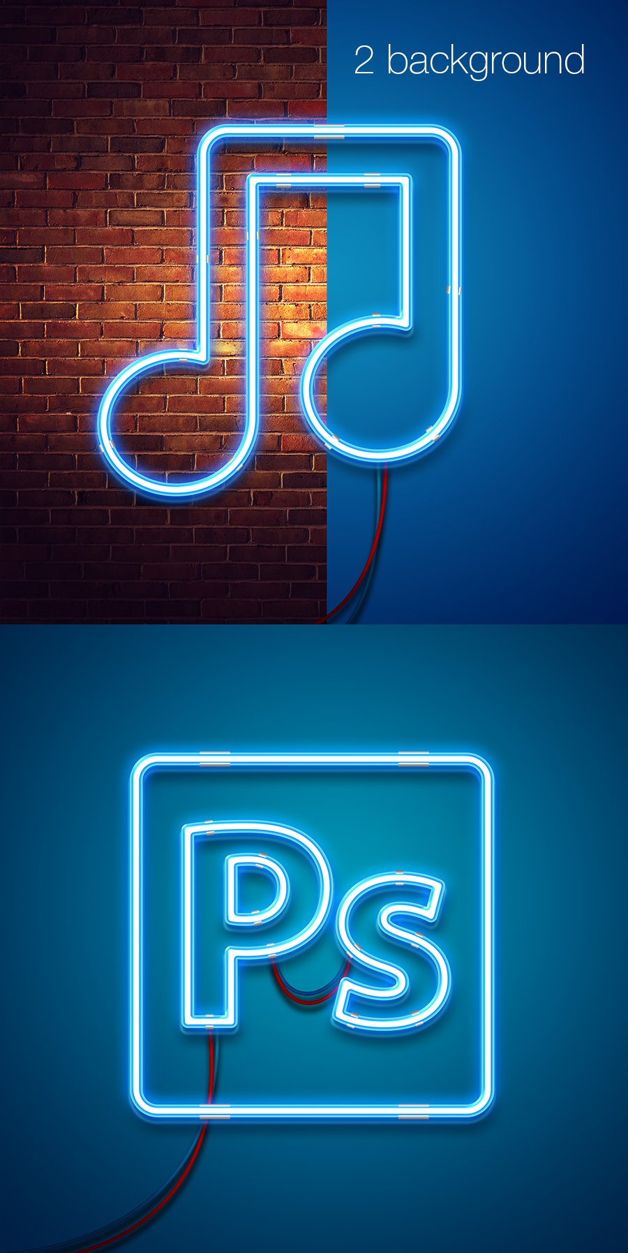 Neon Free Mock-up PSD