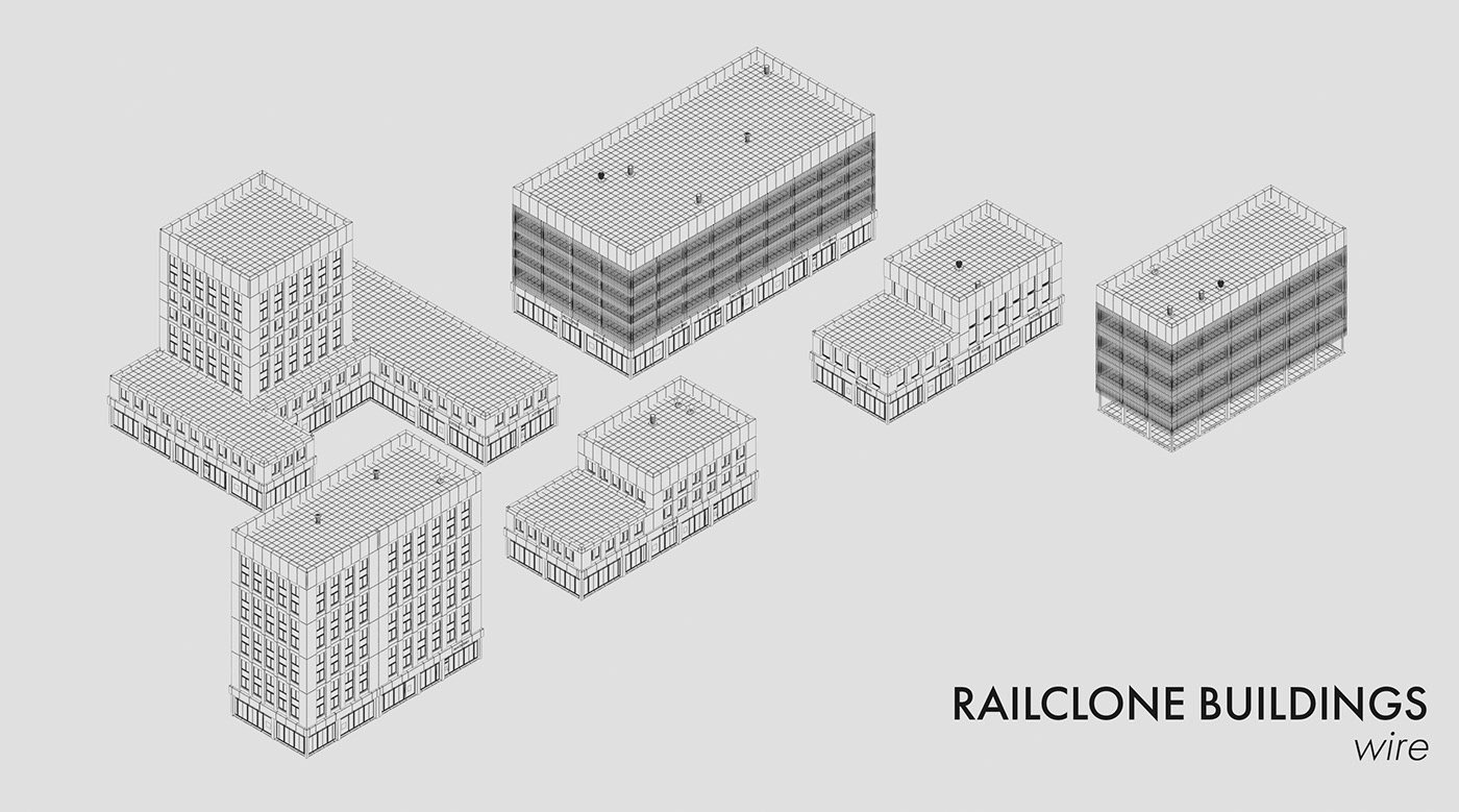 Parametric Buildings Railclone Template Free 3D Max