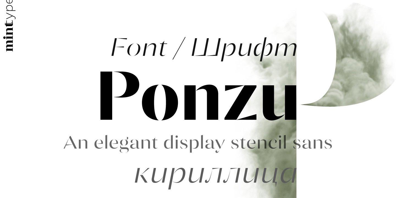 Шрифт Ponzu Light Cyrillic