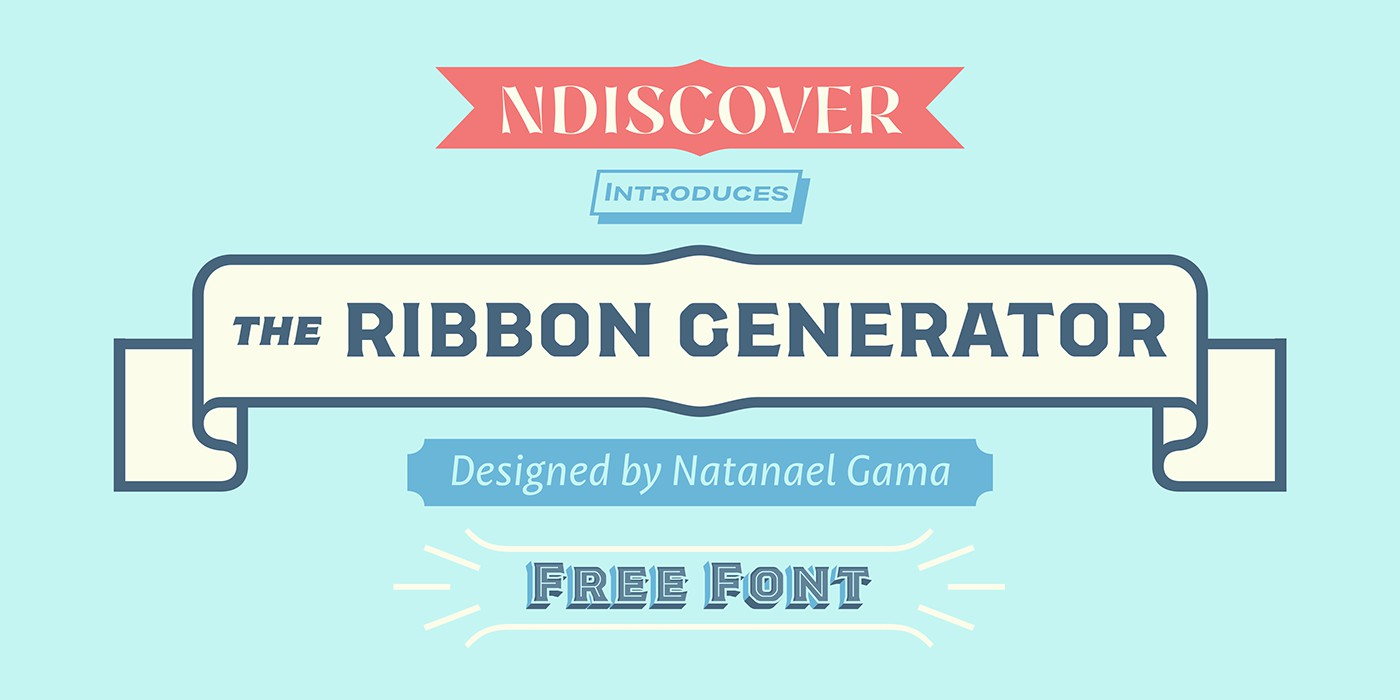 Ribbon Generator Font Генератор лент шрифт скачать