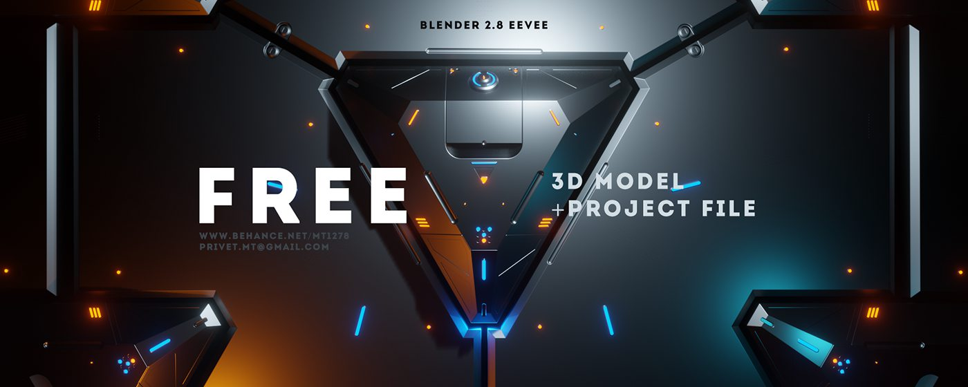 Sci-Fi Triangle - Free Project Blender 2.8 Eevee