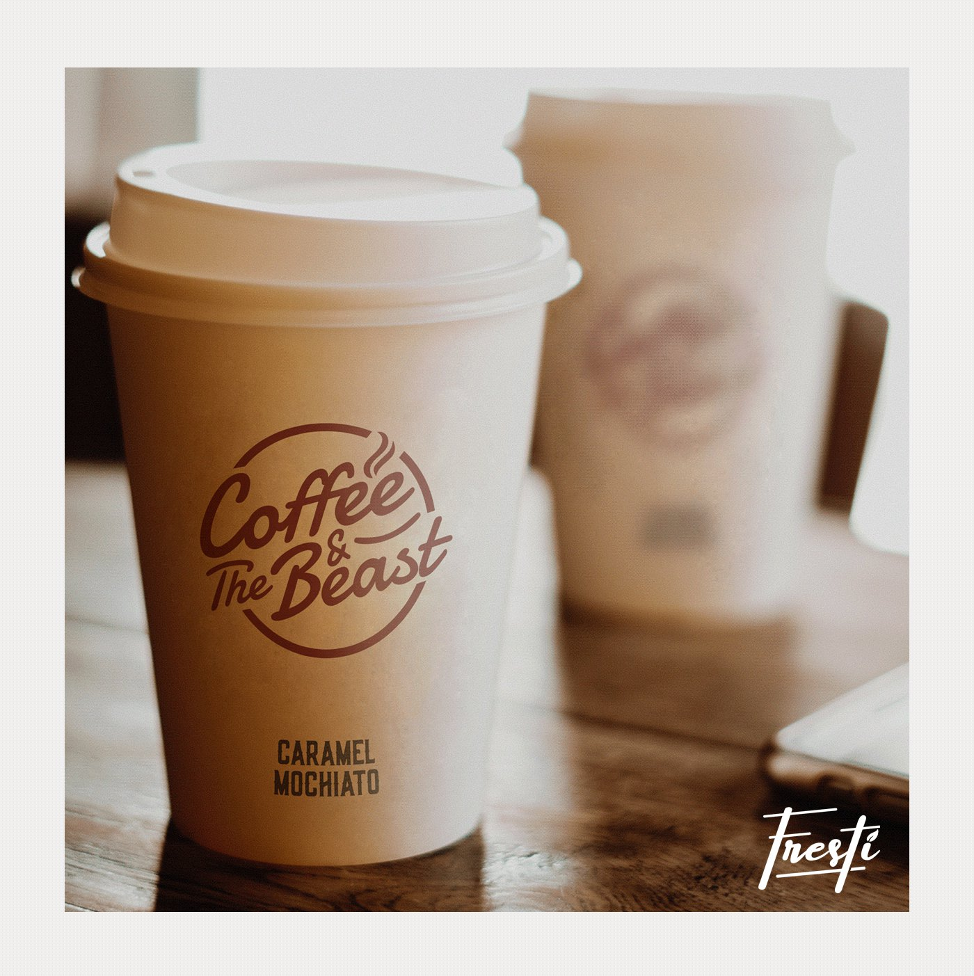 Starbucks Style Papercups Mockup For Branding