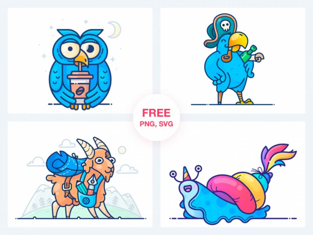 Free 4 Vector Stickers svg png скачать бесплатно