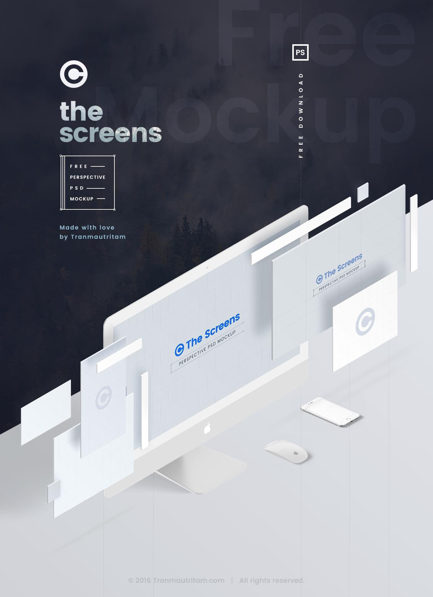 The Sceens - Perspective PSD Mockup