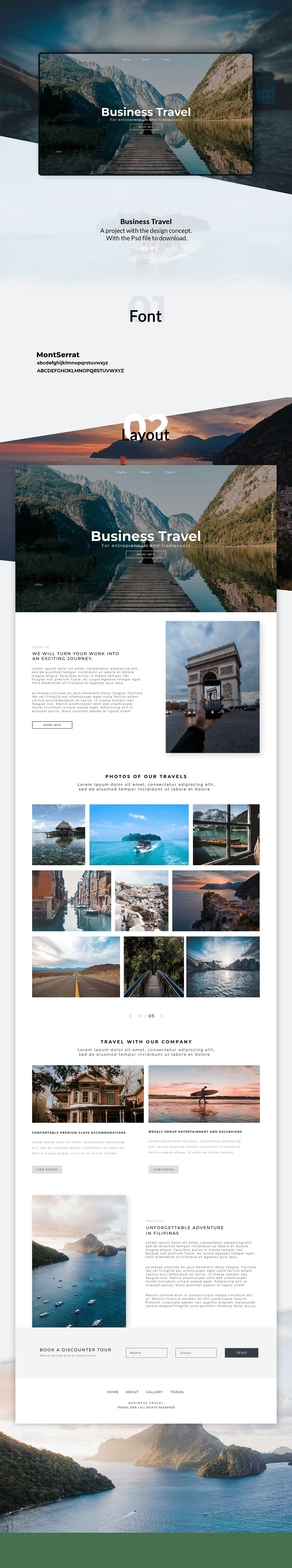 TRAVEL Web Site PSD
