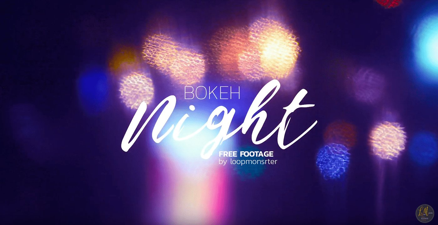 Video Footage Night Bokeh Set