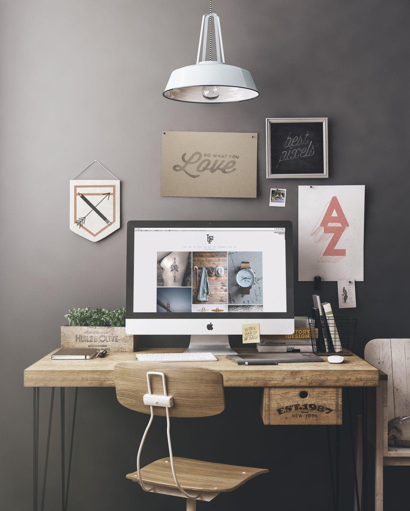 Free Workspace Mockup