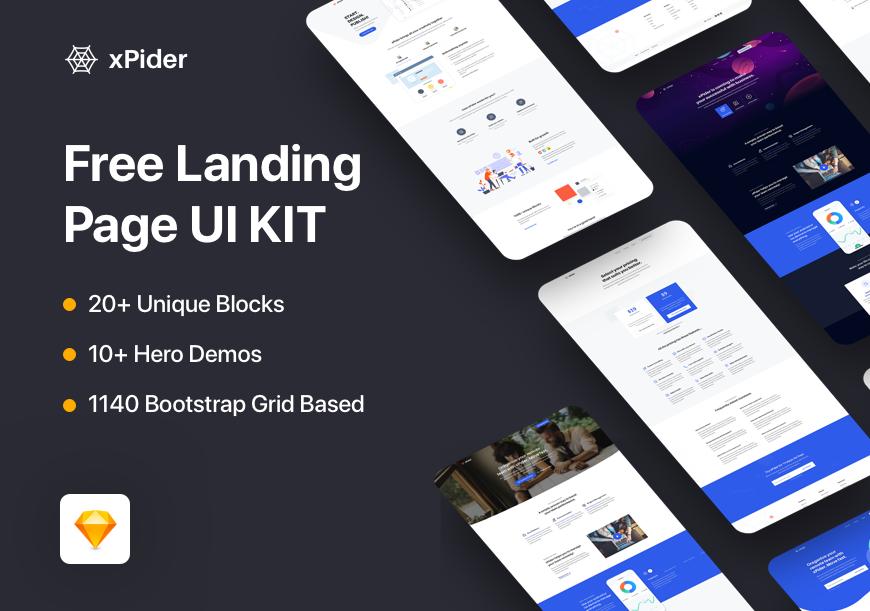 Landing Page UI Kit – xPider